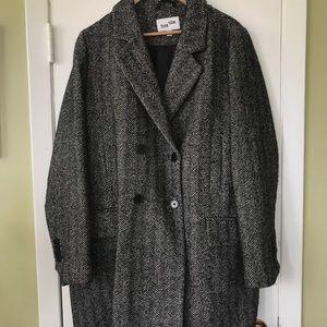 Frank and Oak Herringbone Winter Jacket large/xl